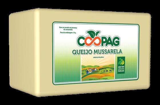 Queijo mussarela marca Coopag Bahia